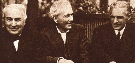Photo of Thomas Edison, Luther Burbank & Henry Ford